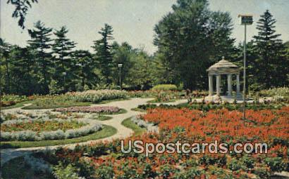 Rand Park Flower Garden - Keokuk, Iowa IA Postcard