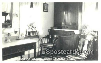 Real Photo - Amana Home - Iowa IA Postcard
