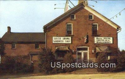 South Amana Sandwich Shop - Iowa IA Postcard