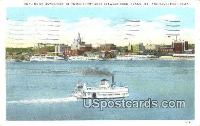 Rock Island - Davenport, Iowa IA Postcard