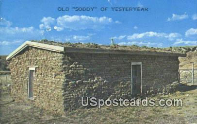 Old Soddy of Yesteryear - Misc, Iowa IA Postcard
