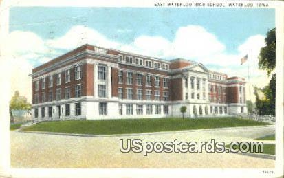 East Waterloo High School - Iowa IA Postcard