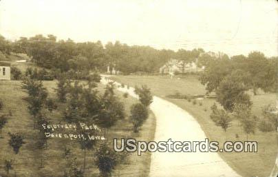Real Photo - Fejervary Park - Davenport, Iowa IA Postcard