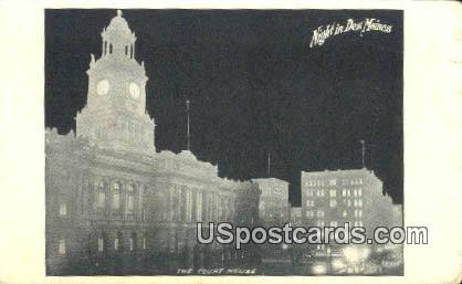 Court House - Des Moines, Iowa IA Postcard