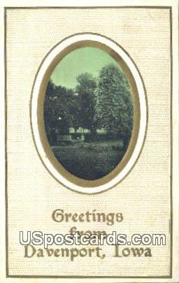 Greetings from - Davenport, Iowa IA Postcard