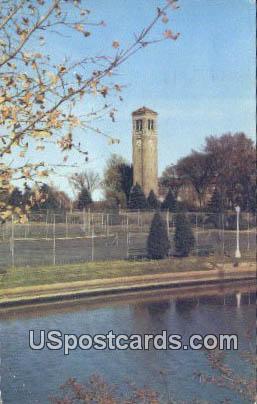 Charming Campanile - Cedar Falls, Iowa IA Postcard