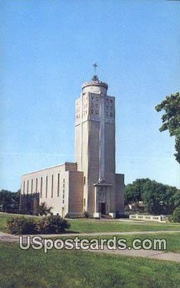 Christ the King Chapel - Davenport, Iowa IA Postcard