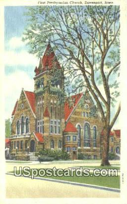 First Presbyterian Church - Davenport, Iowa IA Postcard