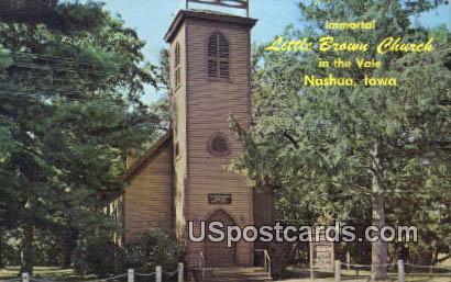 Immortal Little Brown Church in the Vale - Nashua, Iowa IA Postcard