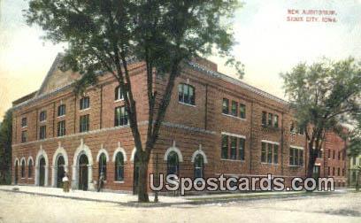 New Auditorium - Sioux City, Iowa IA Postcard