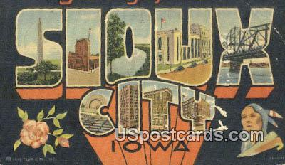 Sioux City, IA Postcard      ;      Sioux City, Iowa