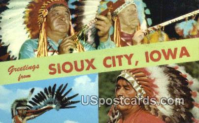 Greetings from - Sioux City, Iowa IA Postcard