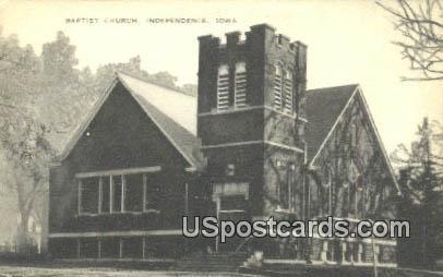Baptist Church - Independence, Iowa IA Postcard