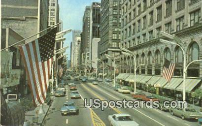 Busy State Street - Misc, Iowa IA Postcard
