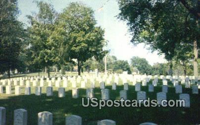 National Cemetery - Keokuk, Iowa IA Postcard