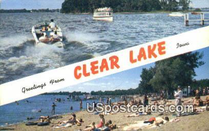 Clear Lake, Iowa Postcard      ;      Clear Lake, IA