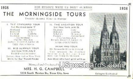 Cologne Cathedral - Sioux City, Iowa IA Postcard