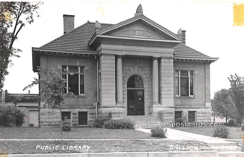 Public Library - Sheldon, Iowa IA Postcard