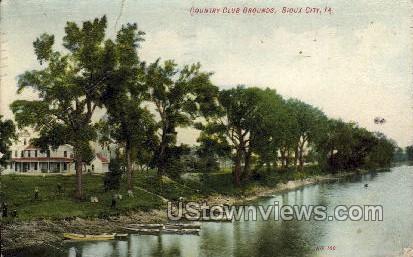 Country Club Grounds - Sioux City, Iowa IA Postcard