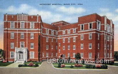Methodist Hospital - Sioux City, Iowa IA Postcard