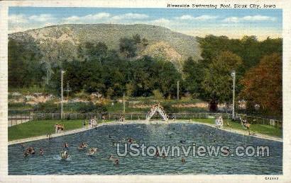 Riverside Swimming Pool - Sioux City, Iowa IA Postcard