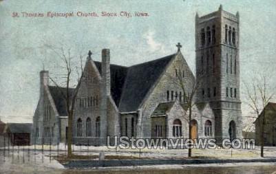 St. Thomas Episcopal Church - Sioux City, Iowa IA Postcard