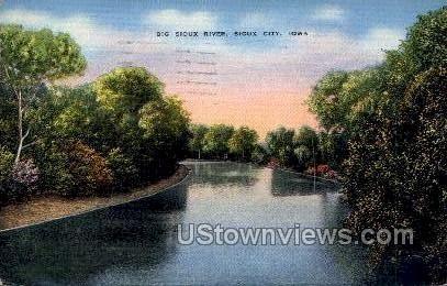 Big Sioux River - Sioux City, Iowa IA Postcard