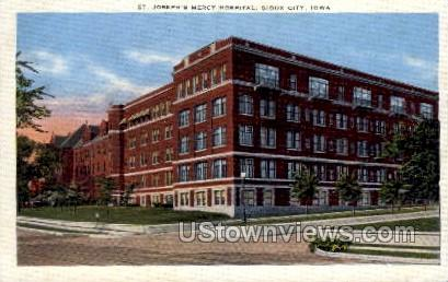 St. Joseph's Mercy Hospital - Sioux City, Iowa IA Postcard