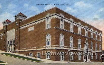 Mason Temple - Sioux City, Iowa IA Postcard
