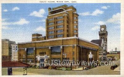 Court House - Sioux City, Iowa IA Postcard