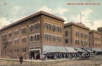 Chicago House - Sioux City, Iowa IA Postcard
