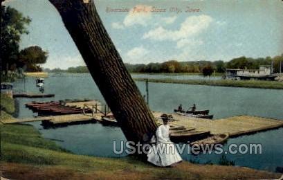 Riverside Park - Sioux City, Iowa IA Postcard