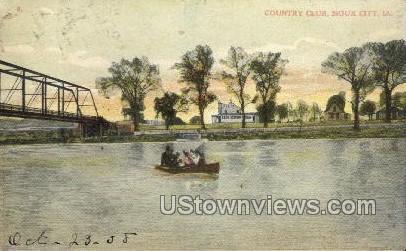 Country Club - Sioux City, Iowa IA Postcard