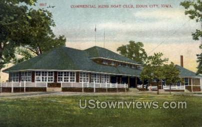 Commercial Mens Boat Club - Sioux City, Iowa IA Postcard