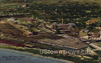 Sioux City Stock Yards - Iowa IA Postcard