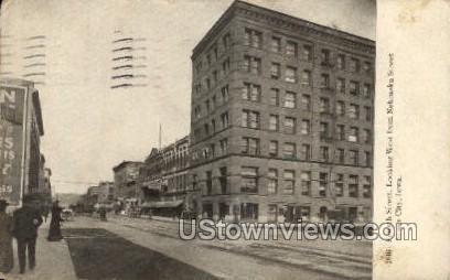 Fourth Street Looking West - Sioux City, Iowa IA Postcard