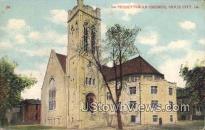 1st Presbyterian Church - Sioux City, Iowa IA Postcard
