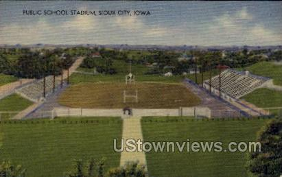 Public School Stadium - Sioux City, Iowa IA Postcard