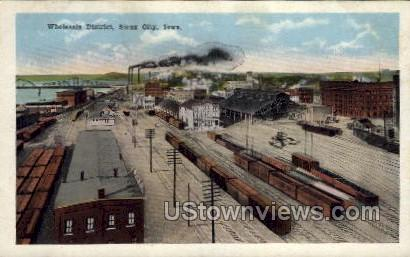 Wholesale District - Sioux City, Iowa IA Postcard