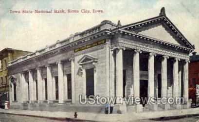 Iowa State National Bank - Sioux City Postcard