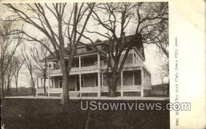 Sioux City Boat Club - Iowa IA Postcard