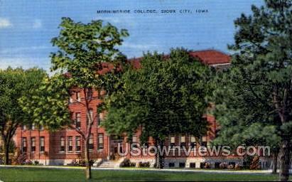 Mornigside College - Sioux City, Iowa IA Postcard