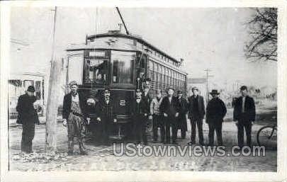 First Trolley - Waterloo, Iowa IA Postcard