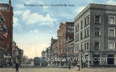 Heart of the City - Council Bluffs, Iowa IA Postcard