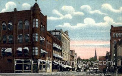 Broadway Corner - Council Bluffs, Iowa IA Postcard