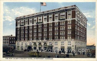 Julien Dubque Hotel - Misc, Iowa IA Postcard