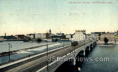 Melen Arch Bridge - Waterloo, Iowa IA Postcard