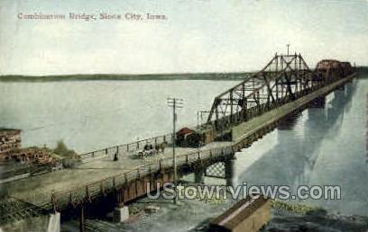 Combination Bridge - Sioux City, Iowa IA Postcard