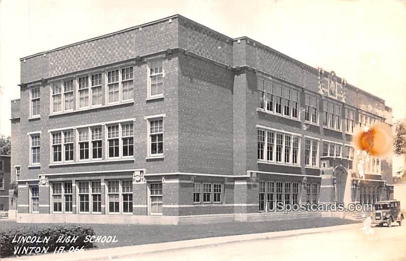 Lincoln High School - Vinton, Iowa IA Postcard