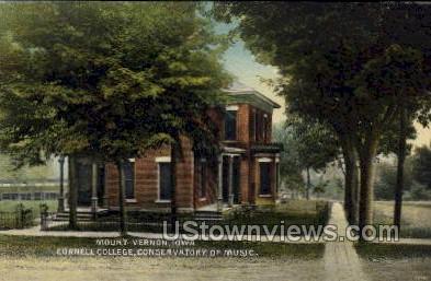 Cornell College, Conservatory of Music - Mount Vernon, Iowa IA Postcard